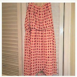Blue rain Size S Neon Pink Diamond Dress